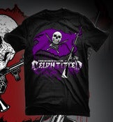 Image of Celph Titled Flag Logo T-Shirt - Purple on Black