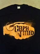 Image of Celph Titled Grenade Logo (Front Only) T-Shirt - Yellow on Black
