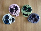 Image of Handmade Sugar Skull Hairclips Da De Los Muertos