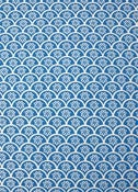"Image of ""Fan"" handprinted fabric {blue}"