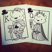 Image of King and Queen of Cubs print set