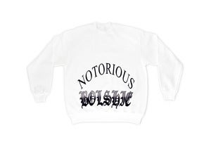 Image of NOTORIOUS BOL$HIE SWEATSHIRT WHITE