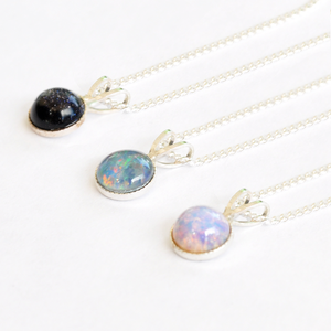 Image of Nebulah. Tiny Semi Precious Stone Necklaces
