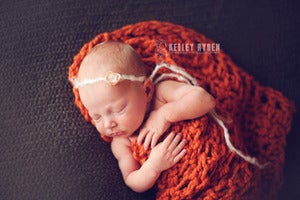 Image of PUMPKIN - Chunky Fisherman's Blanket