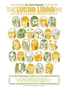 Image of Lucha Library - Green - Art Print