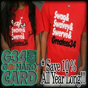 Image of Go Hard Discount Card w/Free Swag-Swavey-Swerve Shirt!!!