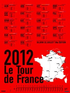 Image of 2012 Tour de France Print