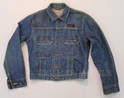 Image of Vintage 1950s TUF NUT Brand Sanforized Indigo Selvedge Denim Buckle Back Jacket 38 Medium