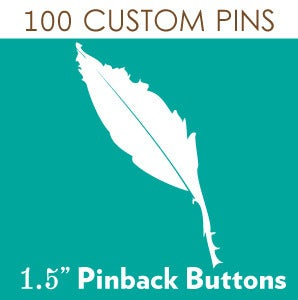 Image of 100 Custom Pinback Buttons