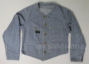 Image of Vintage 1950s OSH KOSH BGOSH Union Made Sanforized Collarless Engineer Jacket 42 M / L 