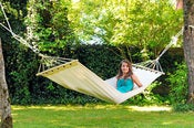 Image of AMAZONAS Tobago Ecru - Weatherproof hammock with spreader bars