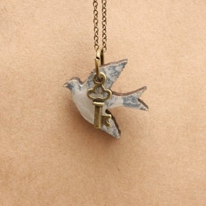Image of Mini Bluebird Pendant