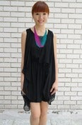 Image of Leona Layered Black Dress