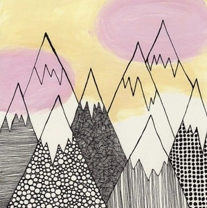 Image of Pattern Mountains Print