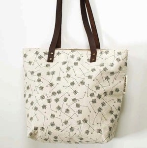 Image of Broken Arrows Screen-Printed Tote Bag