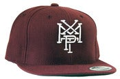 Image of Stacked Logo Snap Back - Maroon