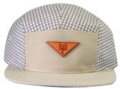 Image of Stack Logo 5 Panel Leather - Creme