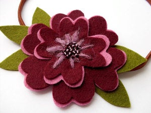 Image of DIY Felt Flower Headband - PDF Sewing Pattern