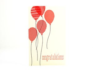 Image of Congratulations Balloons card