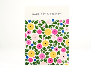 Image of Floral Happiest Birthday