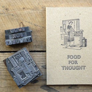 Image of Letterpress Retro Notebook. Food for thought