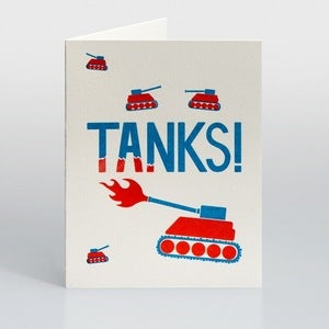 Image of Tanks Card