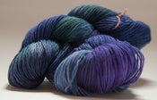 "Image of BATGIRL Sock Yarn, ""Sally- Nightmare Before Christmas"", BFL-nylon, 464 yards"