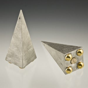 Image of Pyramid Salt and Pepper Shakers