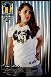 "Image of ""YG WINGS GOLD FOIL"" Womens Tee (White)"