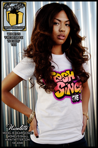 "Image of ""FRESH SINCE THE 80s"" Womens Tee (White)"