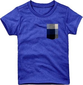 Image of Plaid Pocket Tee Heather Royal