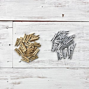 Image of Metallic Tiny Wooden Pegs