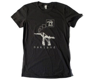 Image of Oakland AT-AT tee womens ASPHALT