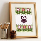 Image of Retro Owl Print [03]