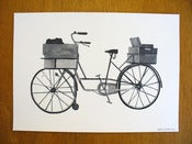 Image of Post Bike print by Nigel Peake