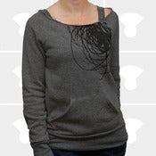 Image of Universe Off-the-Shoulder Sweatshirt - Women