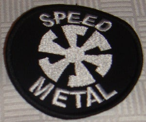 Image of PATCH (embroidered): Speed Metal - Pentagram -Biohazard - Iron Cross