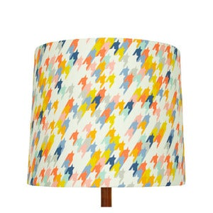 Image of Houndstooth Print Lamp Shade, Fiz & Foster