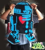 Image of R2 with Heart Poster.
