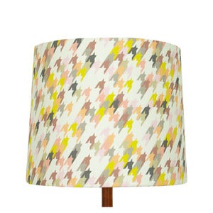 Image of Houndstooth Print Lamp Shade, Heather