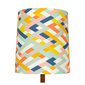 Image of Lattice Print Lamp Shade, Fiz & Foster