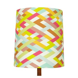 Image of Lattice Print Lamp Shade, Waimea