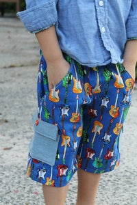 Image of BOYS Classically Cool Cargo Shorts sewing pattern