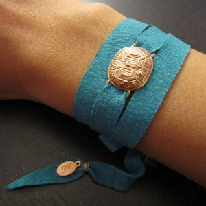 Image of Loksi Leather Wrap Bracelet