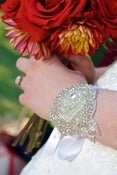 Image of ADELE-Beaded Rose Cuff/headband