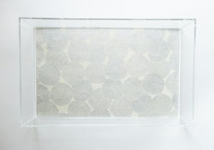 Image of Silver // Natural Mums Lucite Tray with Handles