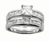 Image of Weddind Band Engagement ring , Anniversary , Eternity Ring, Purity ring Sterling Silver Jewelry