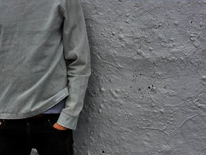 Image of light denim sweater