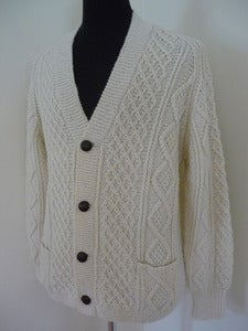 Image of Standún hand-knit Irish wool cardigan