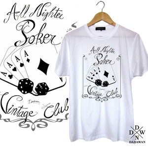 Image of T-shirt All Nighter Pocker Vintage Club by Dadawan 